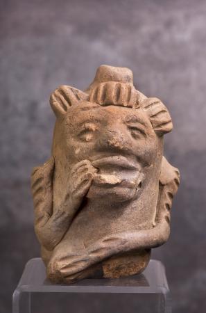 pre columbian: Pre Columbian Mayan Monkey Whistle Made Around 1000 AD