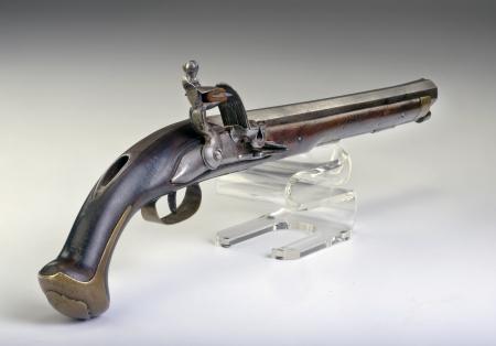 French flintlock pistol made around 1800  Stock Photo