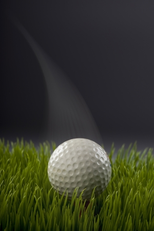 Golf ball showing motion  photo