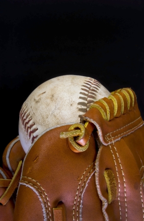 Baseball and Glove With Room for your Type. Stock Photo - 18942561