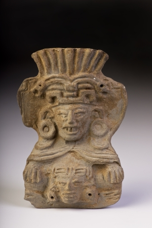 indian artifacts: Pre Columbian warrior made around 1000 AD