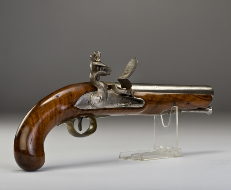 muzzleloader: 17th century English Tower flintlock pistol