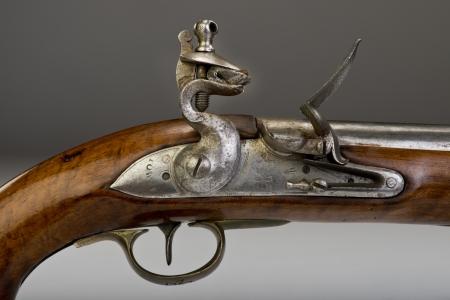 heirlooms: 18 � secolo inglese Torre pistola a pietra focaia Archivio Fotografico