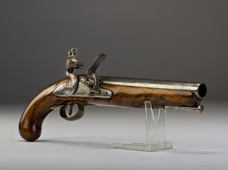 flintlock: 18th century English Tower flintlock pistol