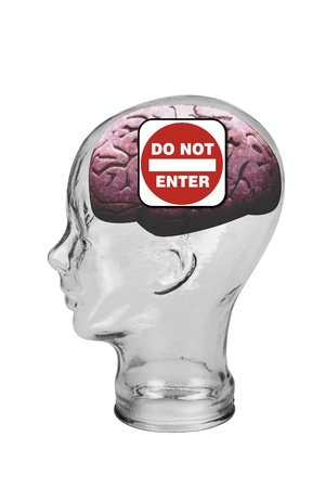 Do Not Enter Brain Stock Photo - 19668697