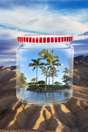 Paradise in a jar Stock Photo - 19668847