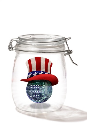sam: Circuit board ball on uncle Sam Hat