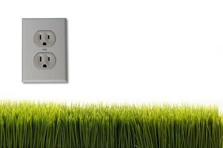 electric plug: Green Energy  Stock Photo