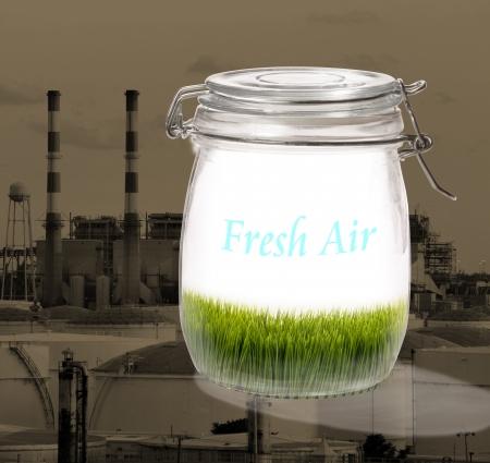 dioxido de carbono: El aire fresco de la contaminación en el fondo