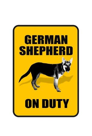 dogie: German Shepherd on Duty