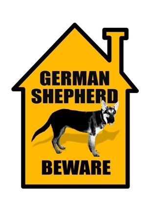 German Shepard Beware Stock Photo - 20073766