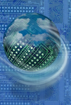 ハイテク基板ボール 写真素材