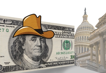 congressional: Funny cowboy hat in Washington D C  Stock Photo