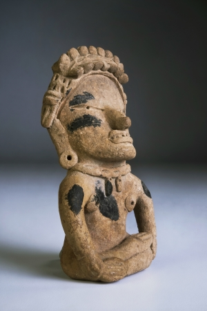 pre columbian: Pre Columbian warrior made around 1000 AD