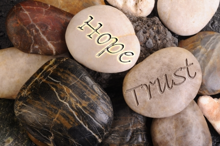 clearness: Hope and Trust Stones
