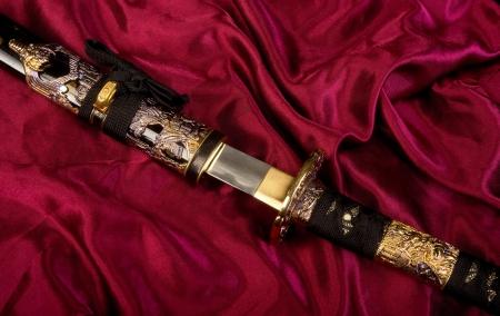 Japanese Samurai Sword Stock Photo - 21620012