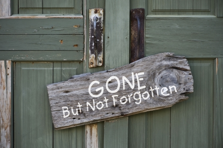 Gone but not forgotten  Stock Photo - 21620140