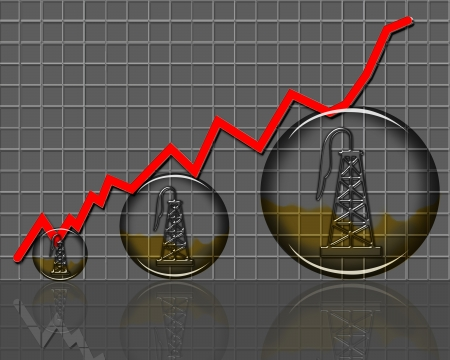 Oil production growing in the USA  Stock Photo