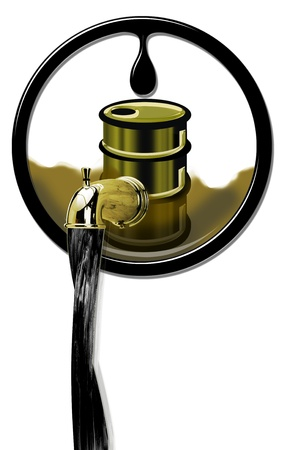 Oil production flowing Stock Photo - 21863558