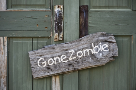 Gone Zombie Sign  Stock Photo - 21845195