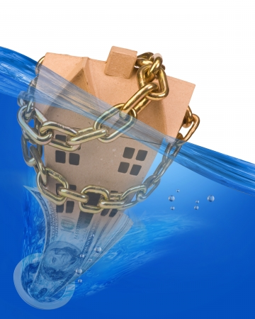 Home under water  Stock Photo - 22973539
