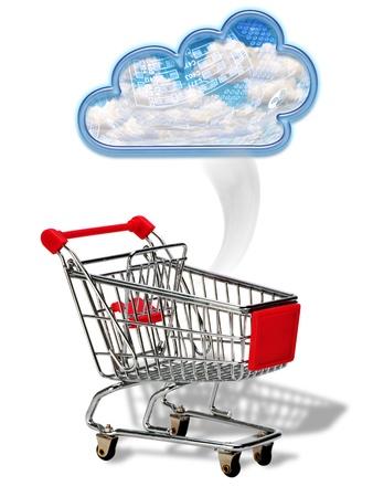 Cloud Computing Shopper Stock Photo - 22973550