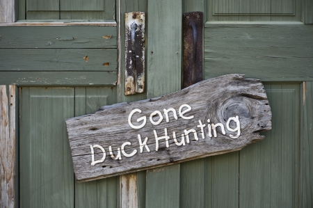 antique rifle: Gone Duck Hunting