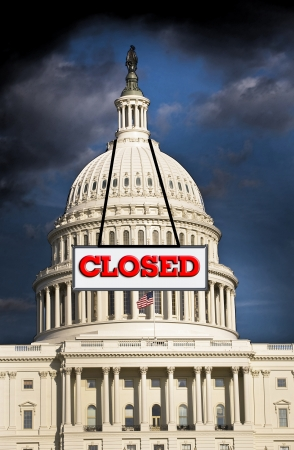 not open: US  Congress closed for business
