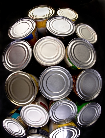 Interesting group of canned food Stock Photo - 22973632