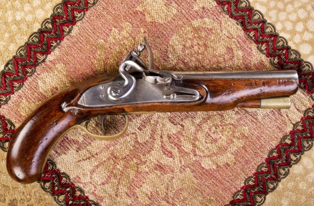 heirlooms: 18th Century English flintlock pistol.