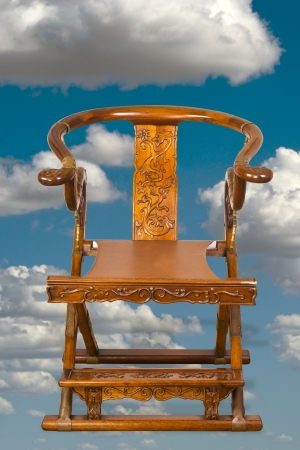 made in china: Chinese folding chair made in the 19th century.