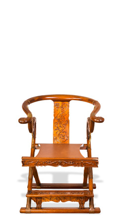 Chinese folding chair made in the 19th century. Stock Photo - 22973664