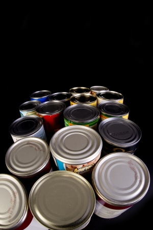 Tin cans with room for your type  Stock Photo - 22973665
