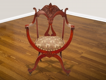 Antique American Mahogany Chair made in the 1890 Stock Photo - 22973668