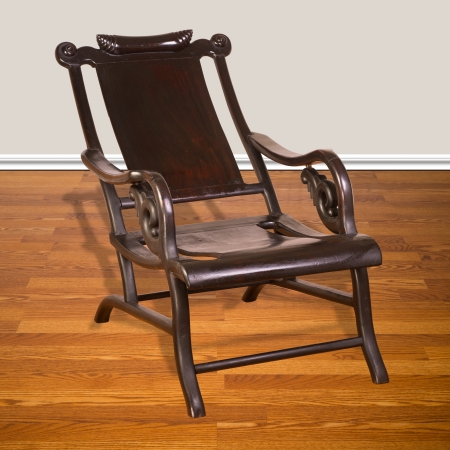 Antique Chinese moon viewing chair made in early 19th century