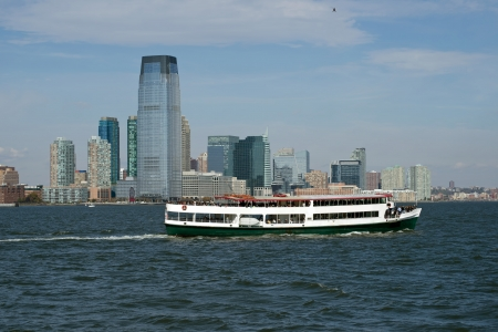 boat party: Jersey City , New Jersey with party boat on Hudson,river
