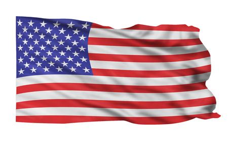 American flag waving. Stock Photo - 23676035