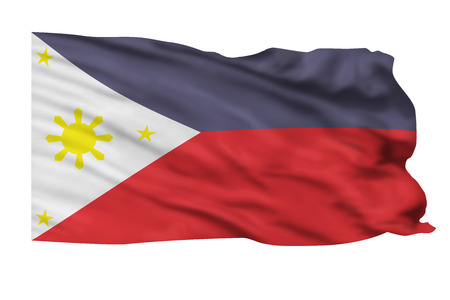 Philippines flag waving in the wind. Stock Photo - 23676036