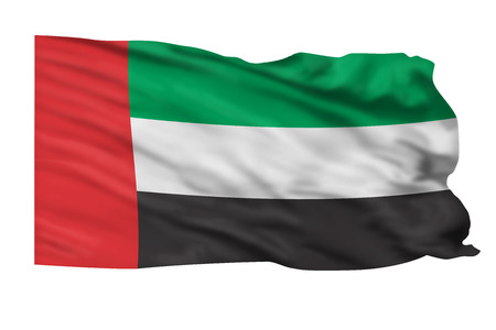 United Arab Emirates flag waving in the air. Stock Photo - 23676038
