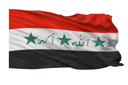 Flag of Iraqi flying in the air. Stock Photo - 23676480