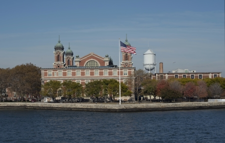 Ellis Island in New York City on the Hudson River. photo