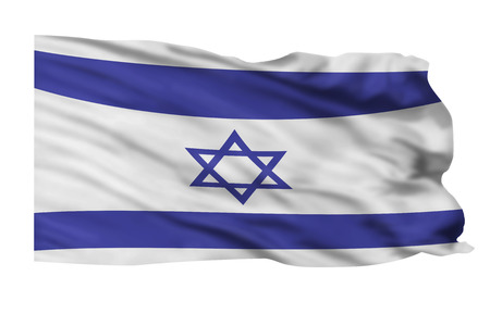 israeli: Flying flag of Israeli flying high