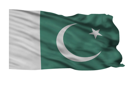 Pakistan flag flying in the wind  Imagens