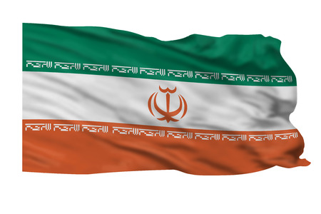 Iran flag flying high in the wind Stock Photo - 23991023