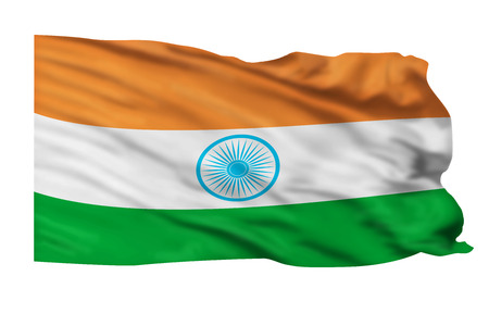 India flag waving high in the sky Stock Photo - 23991024