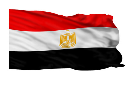 Flag of Egypt flying high in the air Stock Photo - 23991025