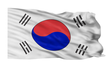 Flag of South Korea flying high  Stock Photo - 23991026