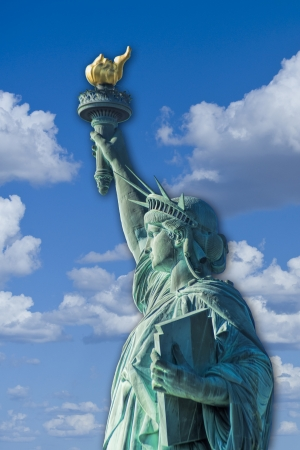 Statue of Liberty on the Hudson river in NYC. Stock Photo - 23991079