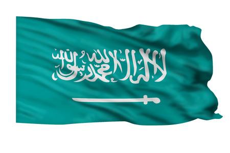 Saudi Arabia flag waving high in the air. Stock Photo - 24539529