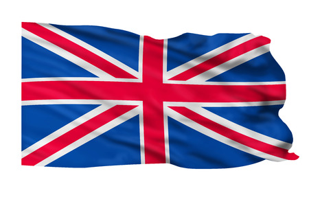 United Kingdom flag blowing in the wind Stock Photo - 24540322